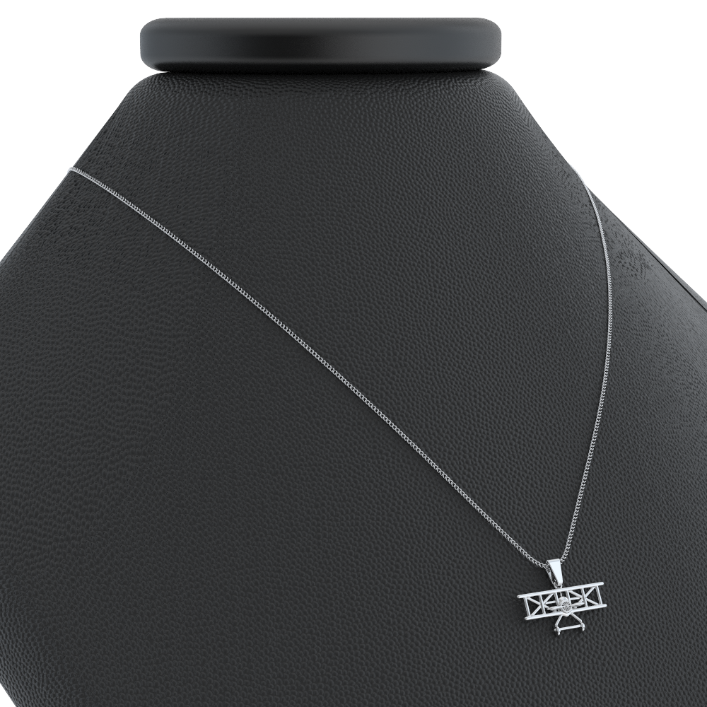 Biplane Pendant Necklace - LIMITED EDITION