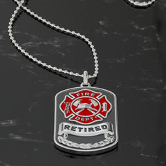 Retired Fire Dog Tag