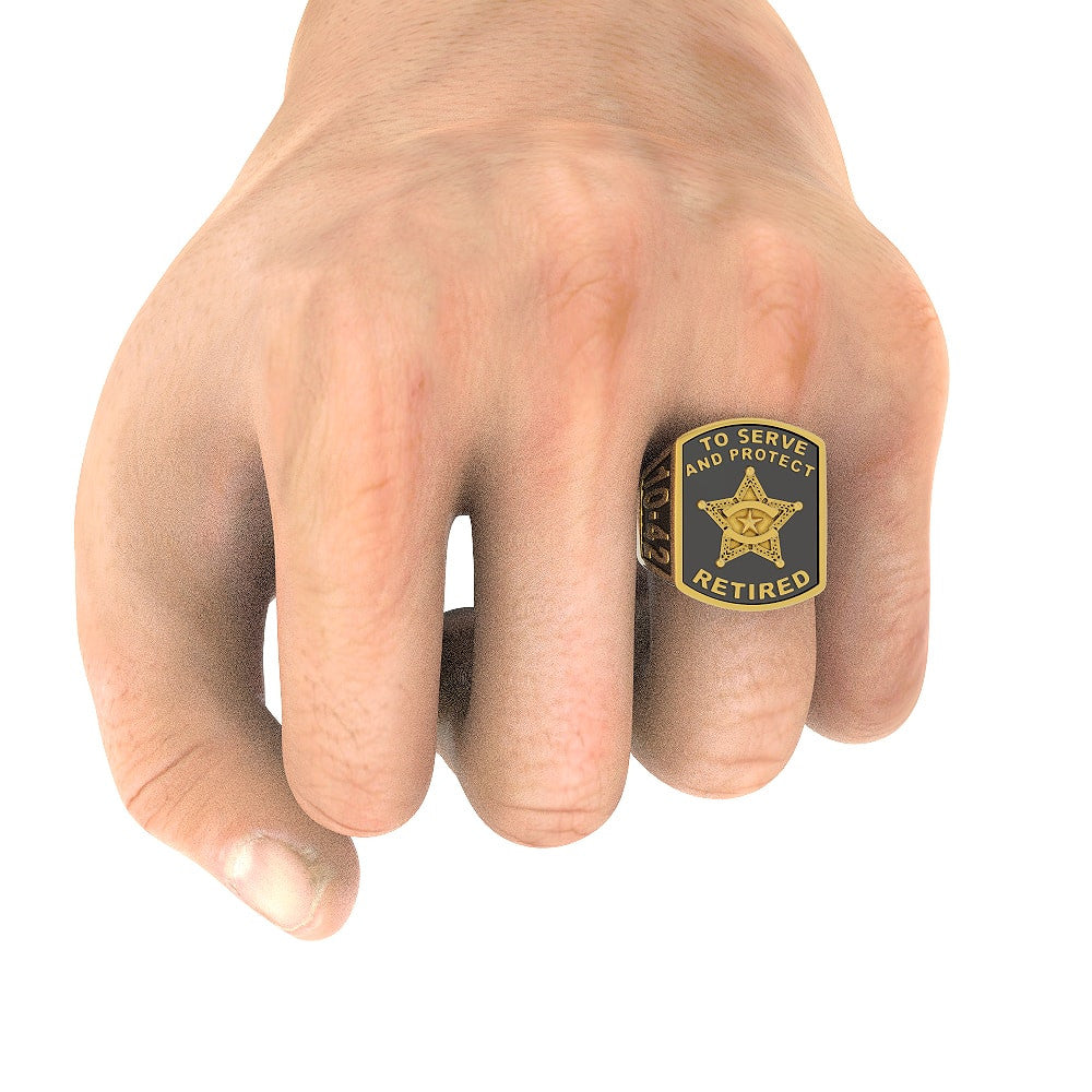 Retired Deputy Sheriff Ring - Limited Edition