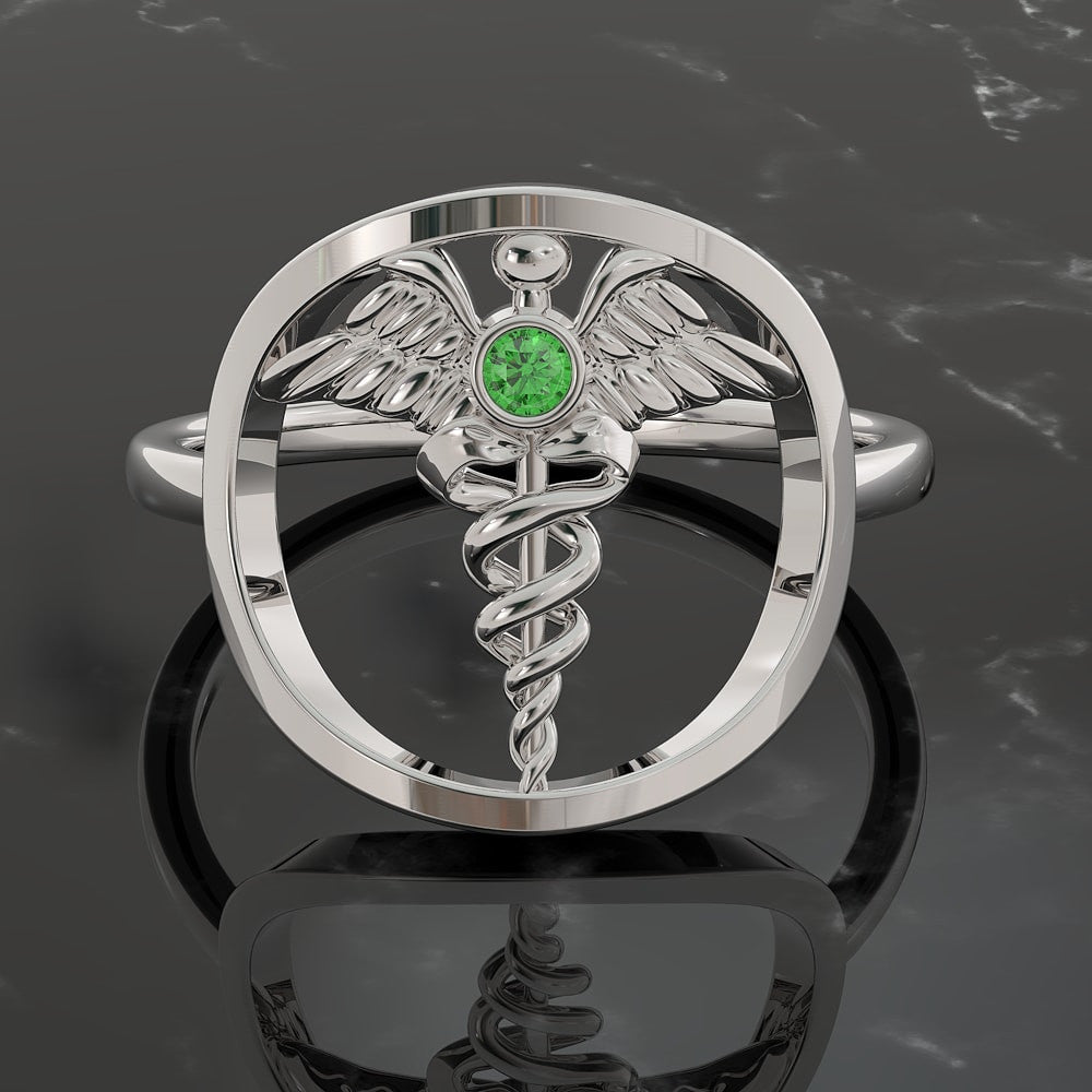 Caduceus Ring