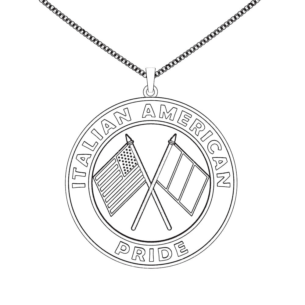 Italian American Pride necklace