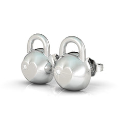 Kettlebell Birthstone Earrings