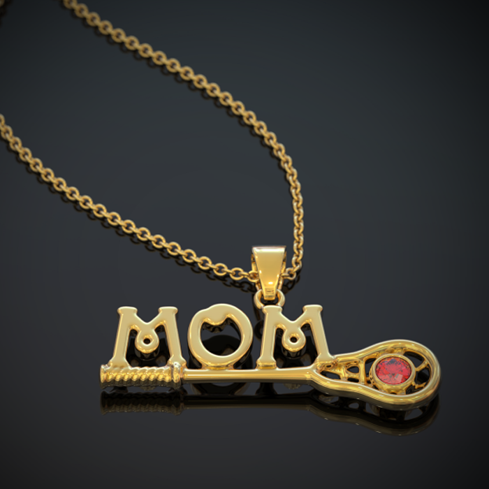 Lacrosse Mom Necklace