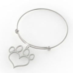 Paw Print Love Necklace