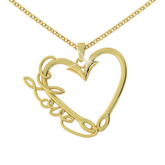 Fishing Love Pendant (.925 silver)