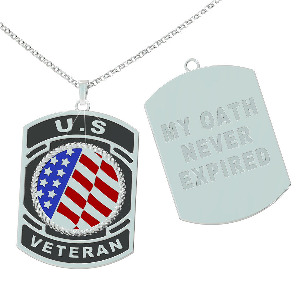 United States Veteran Dog Tag - Sterling Silver
