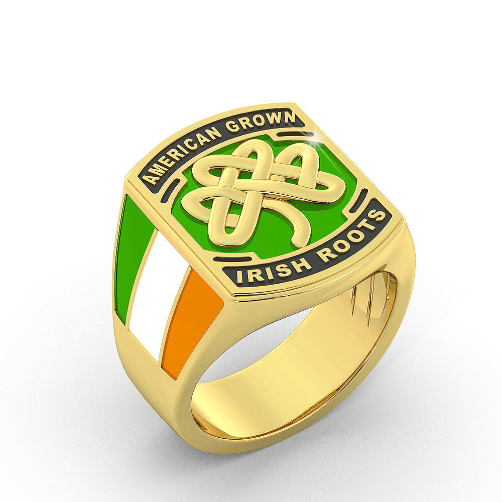 American Irish Shamrock Ring