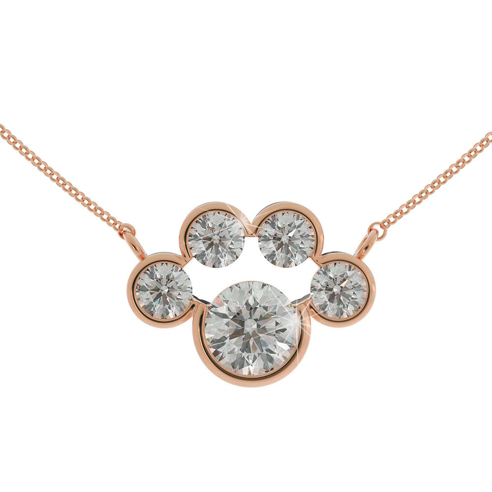 "Paw Print ""Diamond"" Necklace"