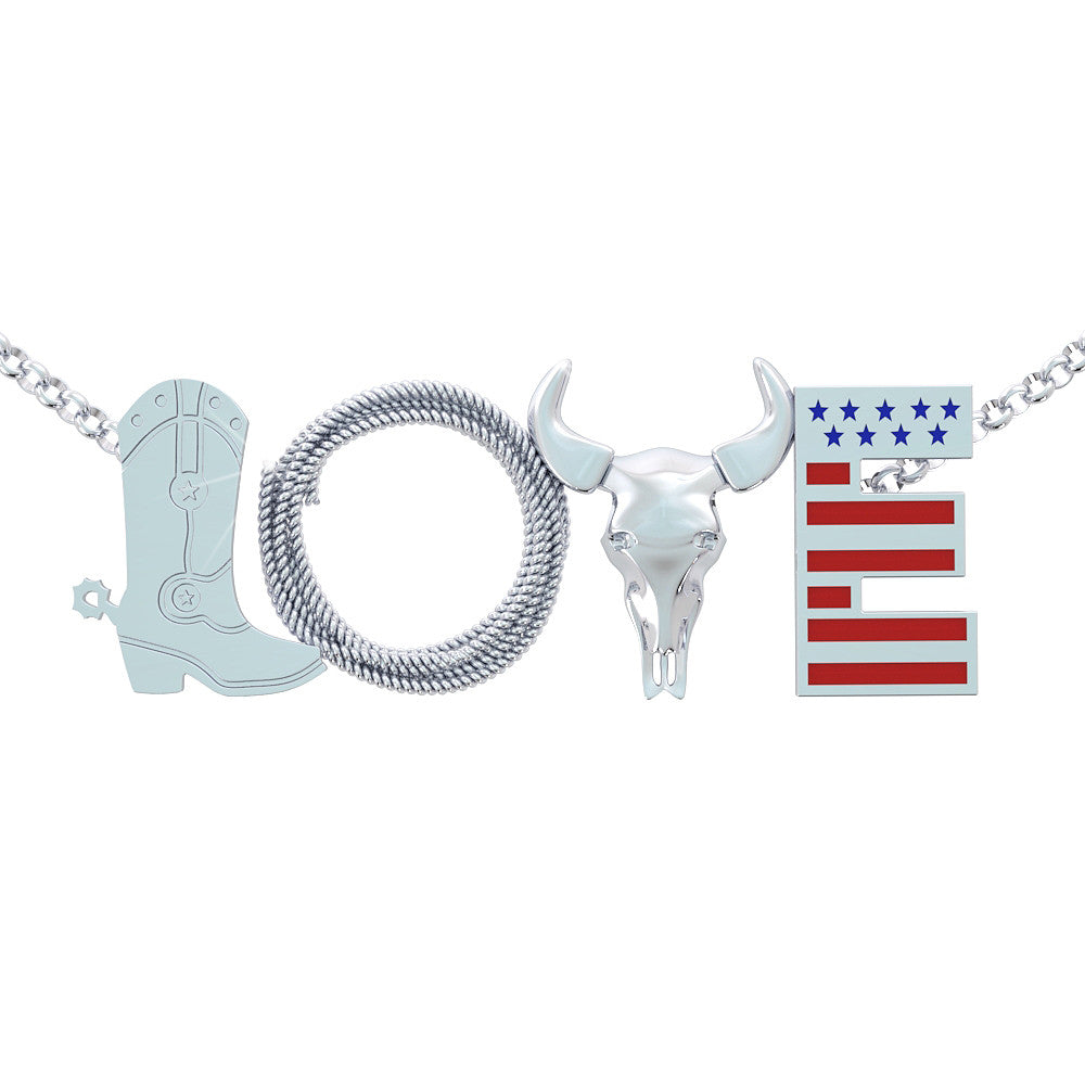 Country love Necklace (.925 silver)