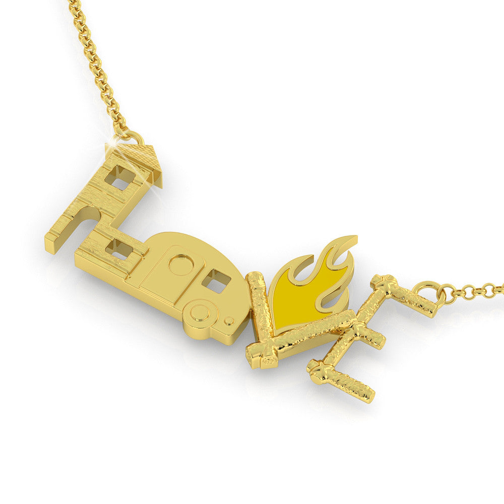 Camping love Necklace