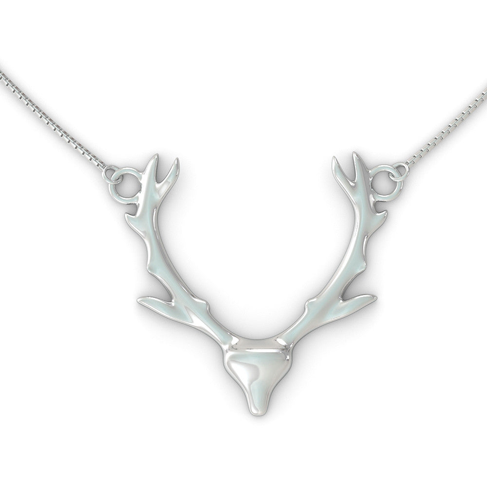 Antlers Necklace (.925 silver)