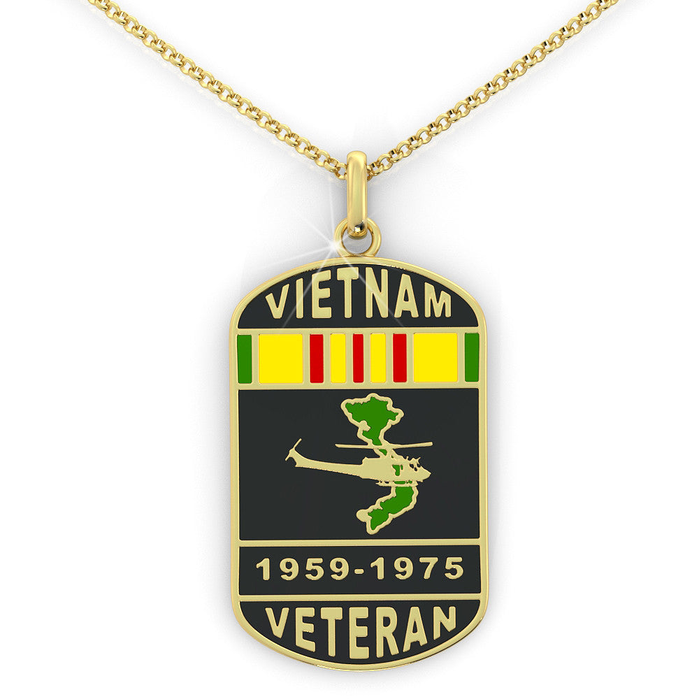 Vietnam Veteran Dog Tag