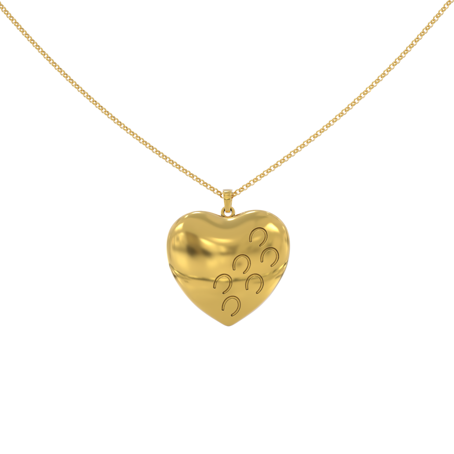 Hoof Prints On My Heart Necklace - LIMITED EDITION
