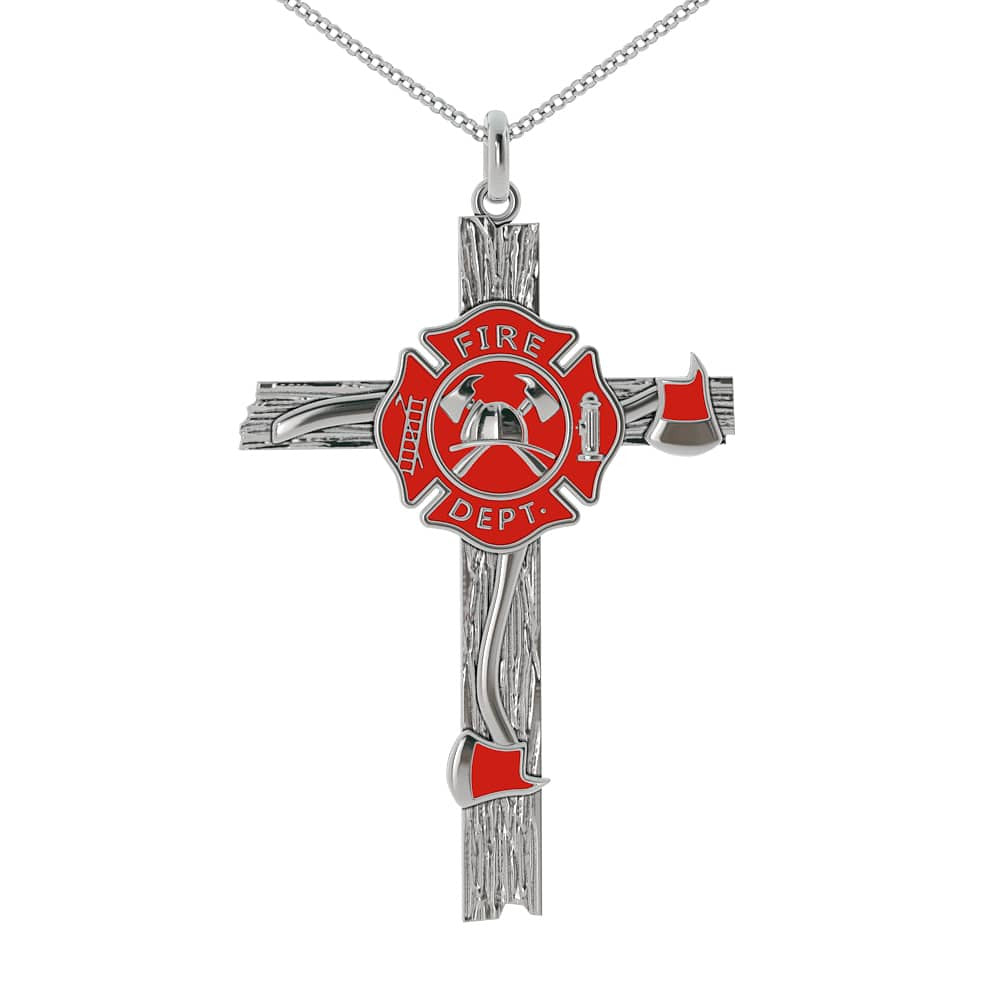 LIMITED EDITION - Firefighter Cross Necklace