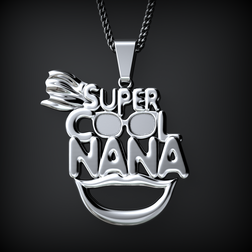 word charm fill rose silver nana necklace in products gold lowercase detail and a also