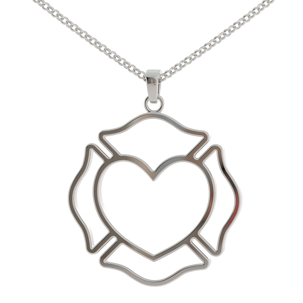 Fire Heart Pendant