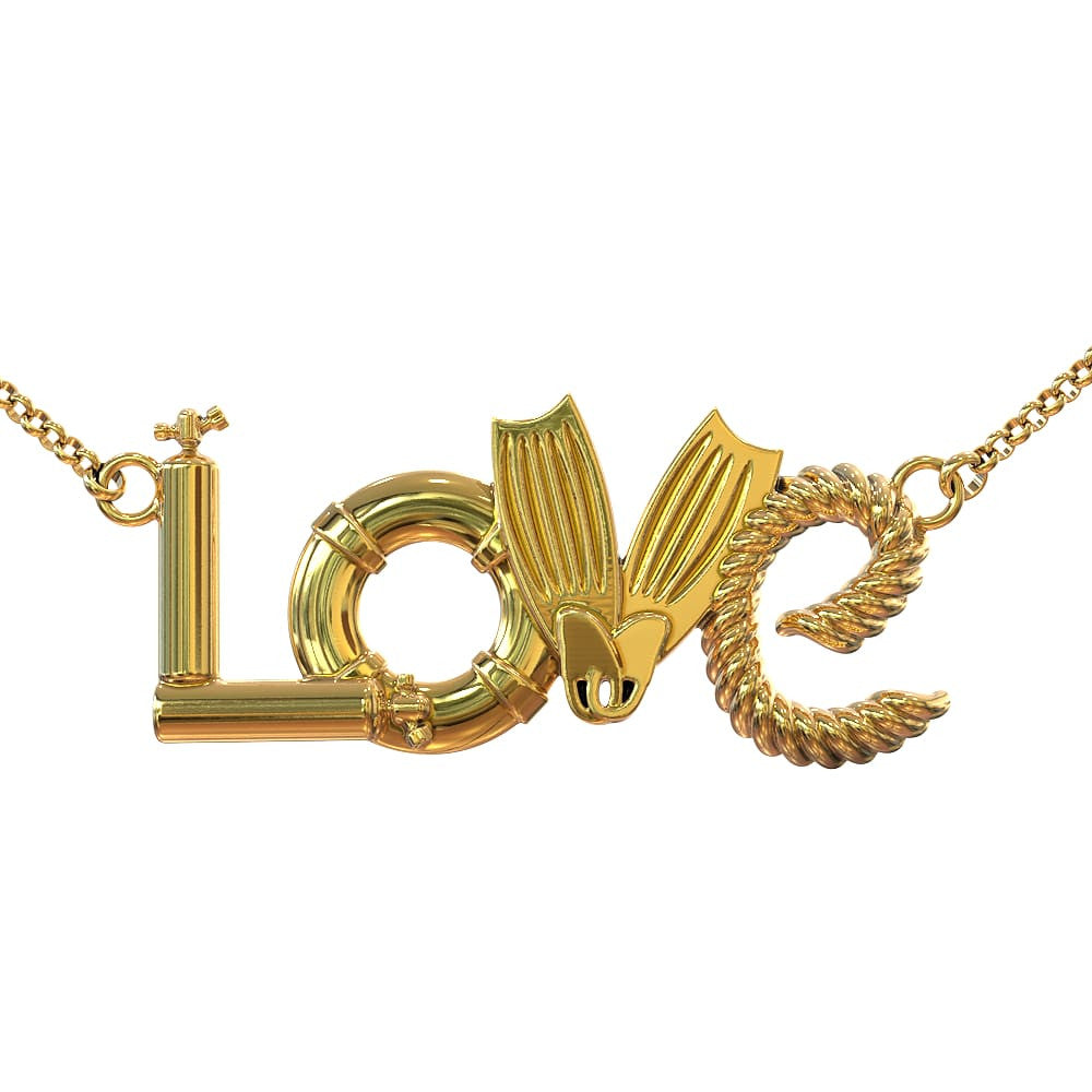 LOVE - Scuba - Limited Edition Pendant