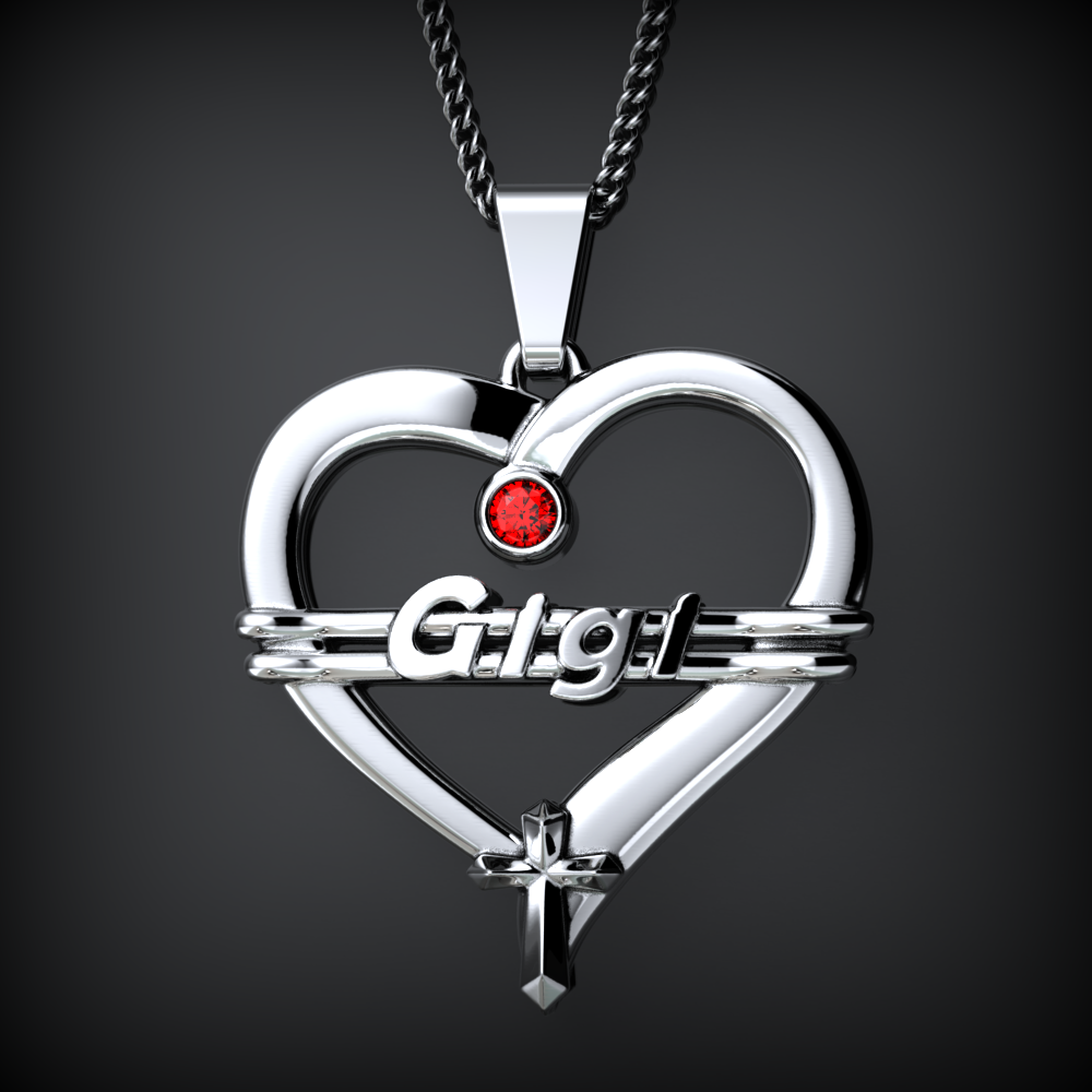 GIGI Heart Birthstone Necklace