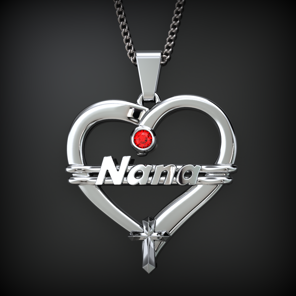 Nana Heart Birthstone Necklace Special Edition