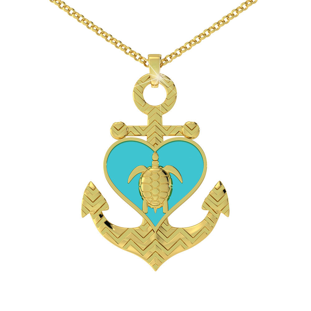 Turtle Anchor Pendant