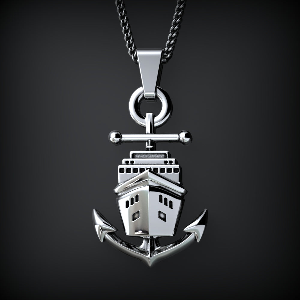 Ship and Anchor Necklace - STRICTLY LIMITED EDITION