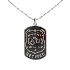 Retired Corrections Dog Tag