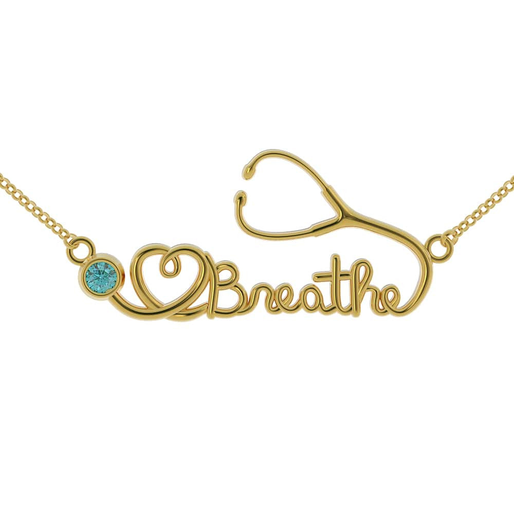 Limited Edition - Breathe Birthstone Pendant