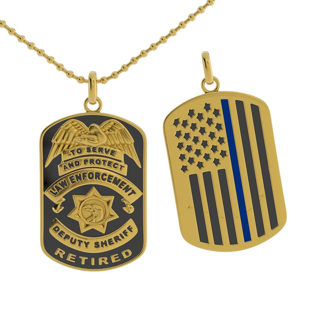 Retired Deputy Sheriff Dog Tag