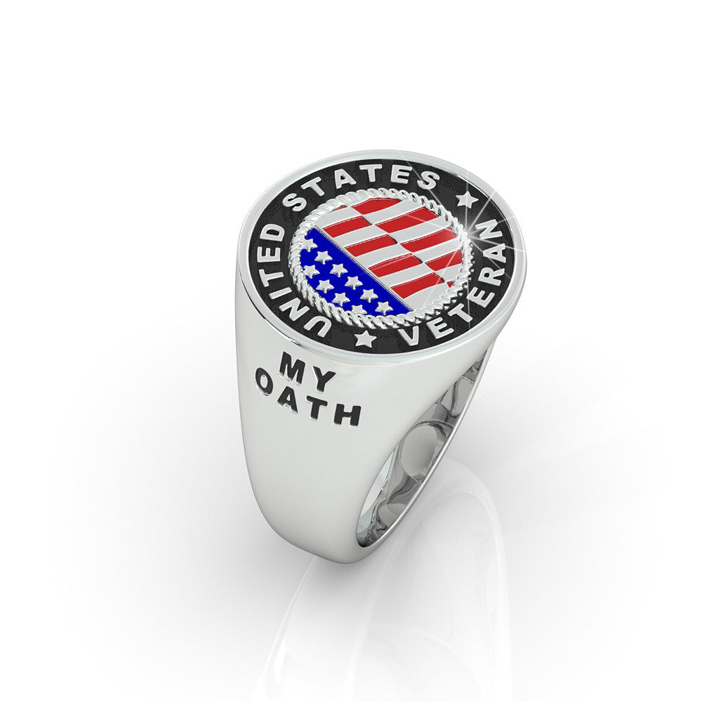 United States Veteran Flag Ring