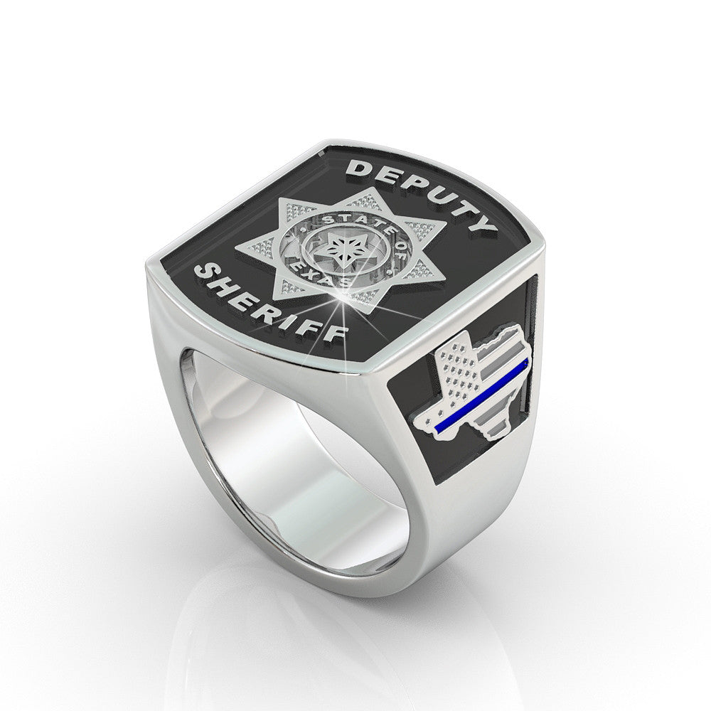 Texas Deputy Sheriff Ring - 7 pointed star