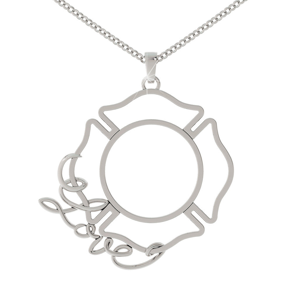 Fire Shield Love Necklace