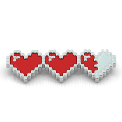 Retro Video Game Heart Health Pendant