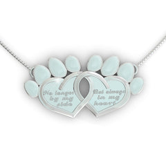 Always in my Heart Dog Pendant
