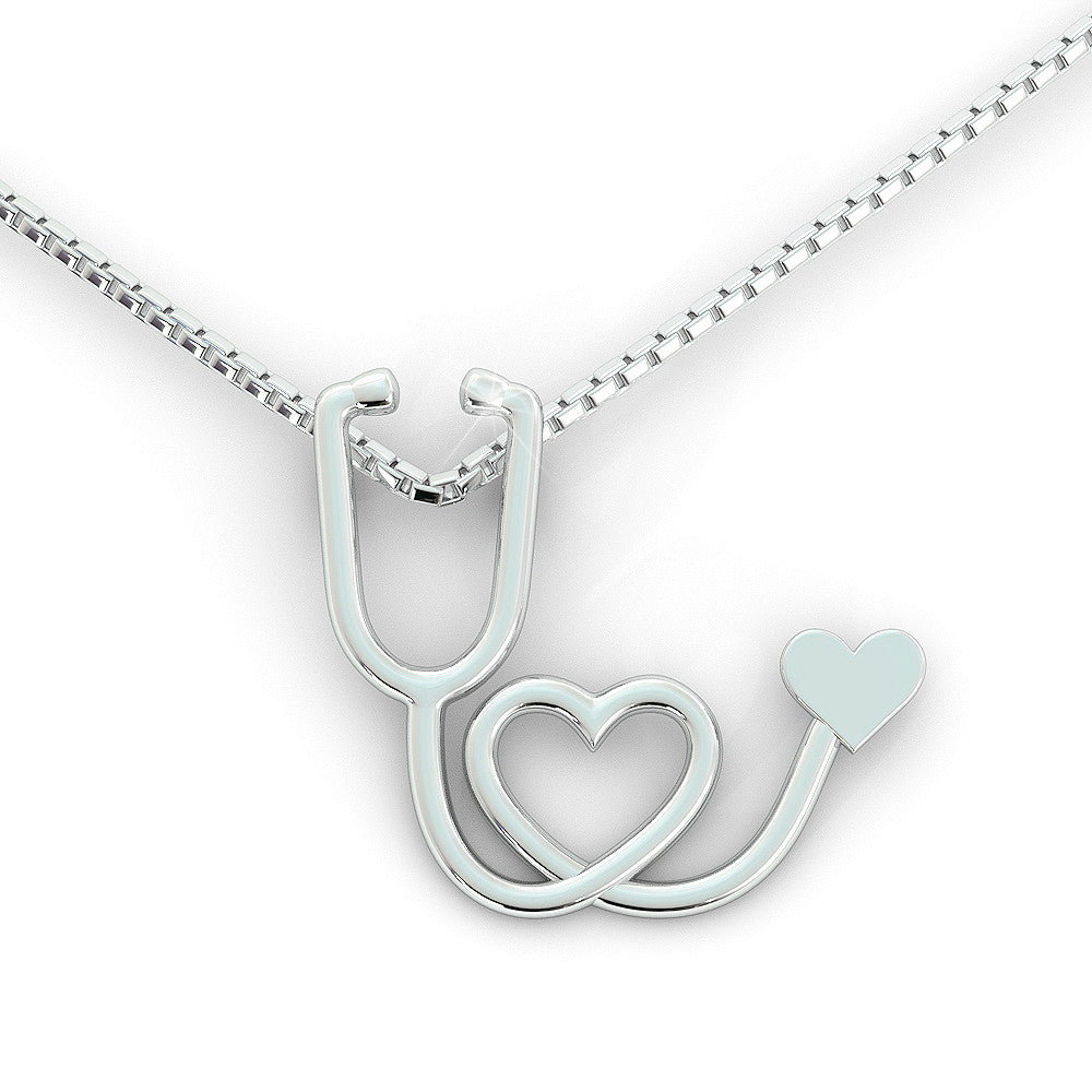 Stethoscope Necklace (.925 silver)