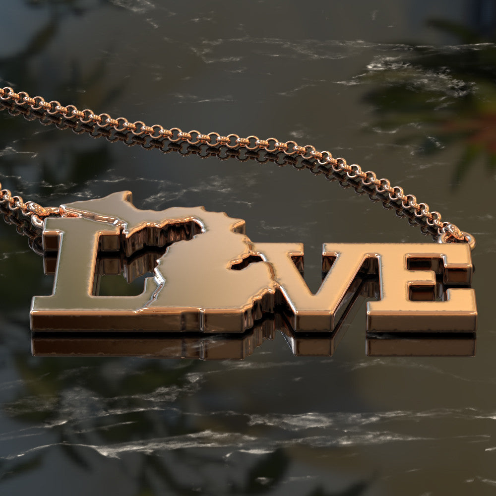 Love Michigan Necklace