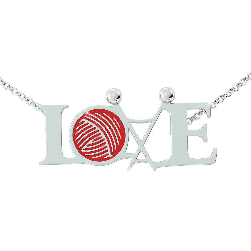 Knitting Love Pendant