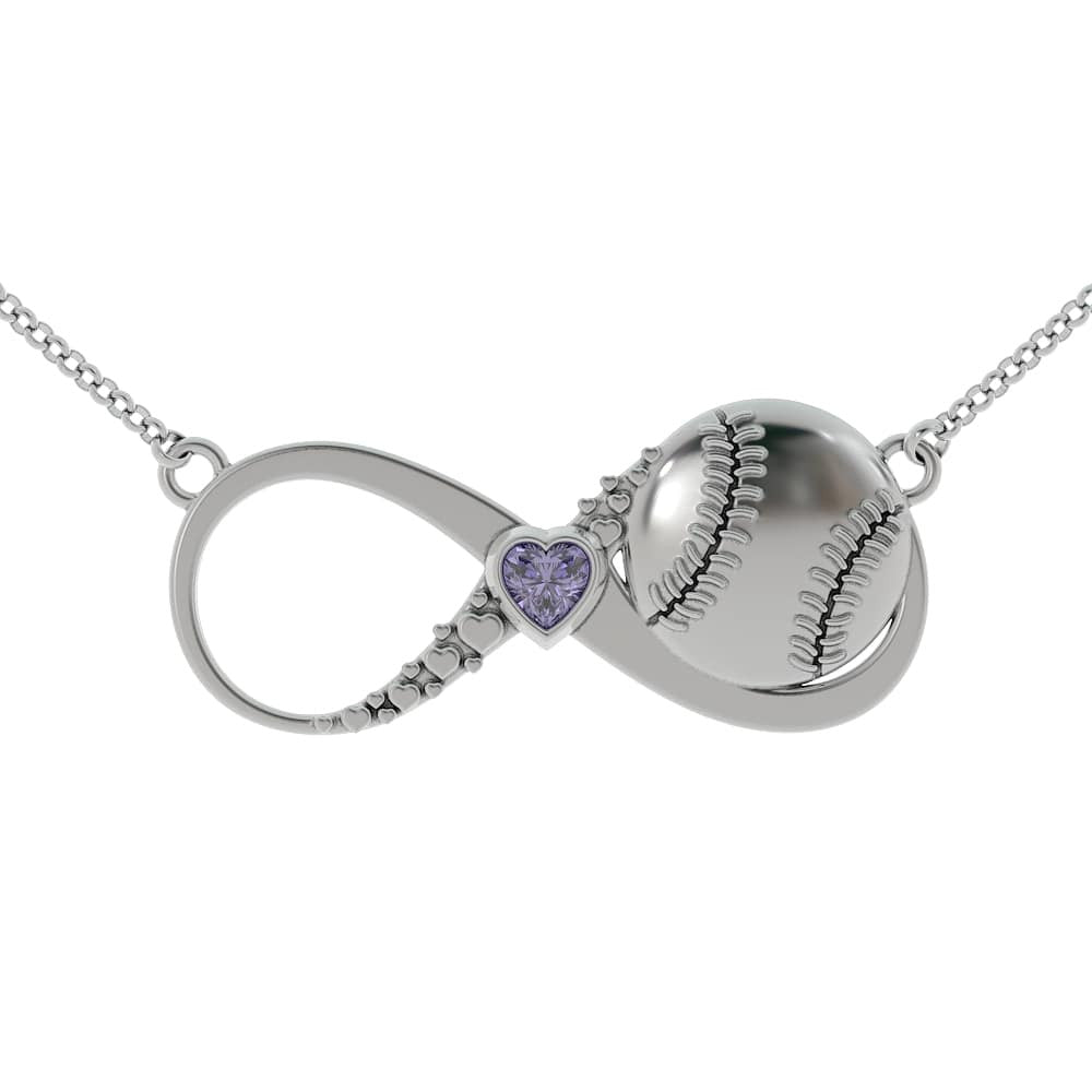 I Love Baseball - Infinity Necklace