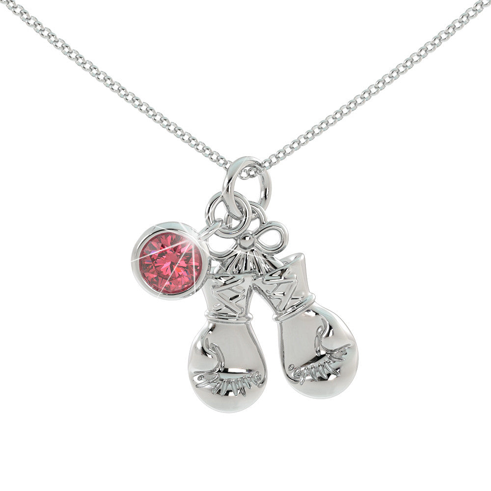 Love Kickboxing - Birthstone Pendant .925 Sterling Silver