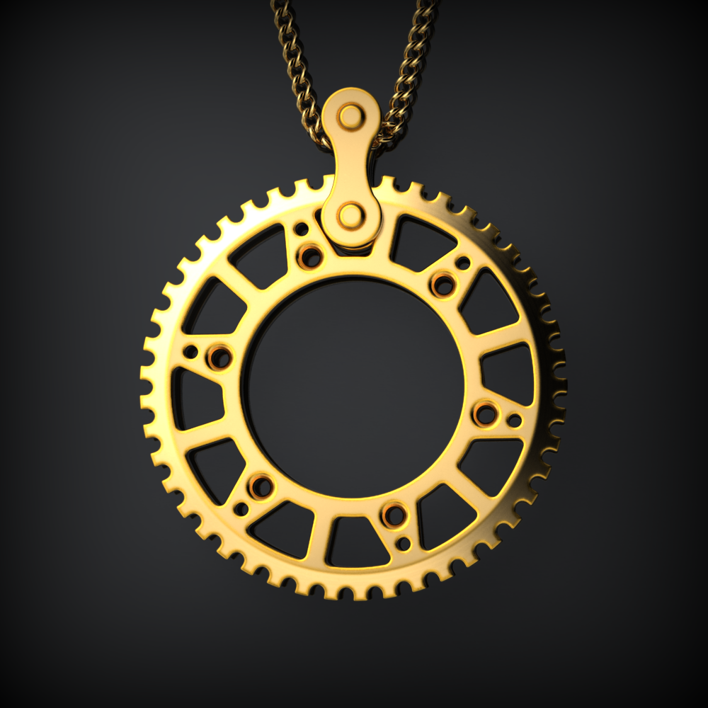 Motocross Cog Necklace - LIMITED EDITION