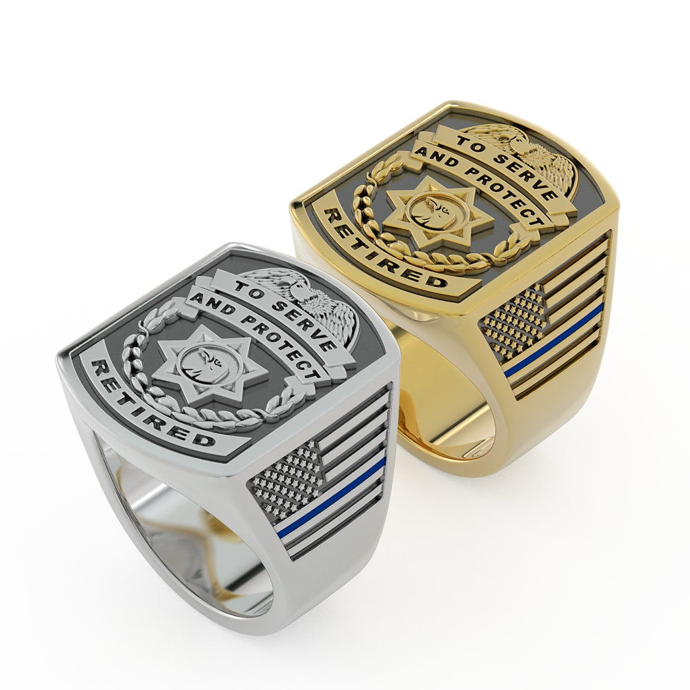 Retired Police Handcuff Ring