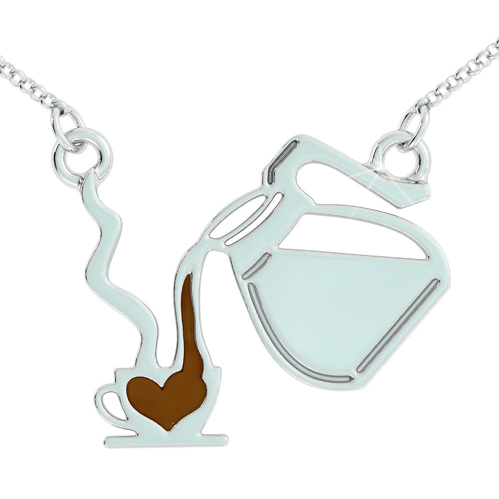 I Love Coffee Pendant