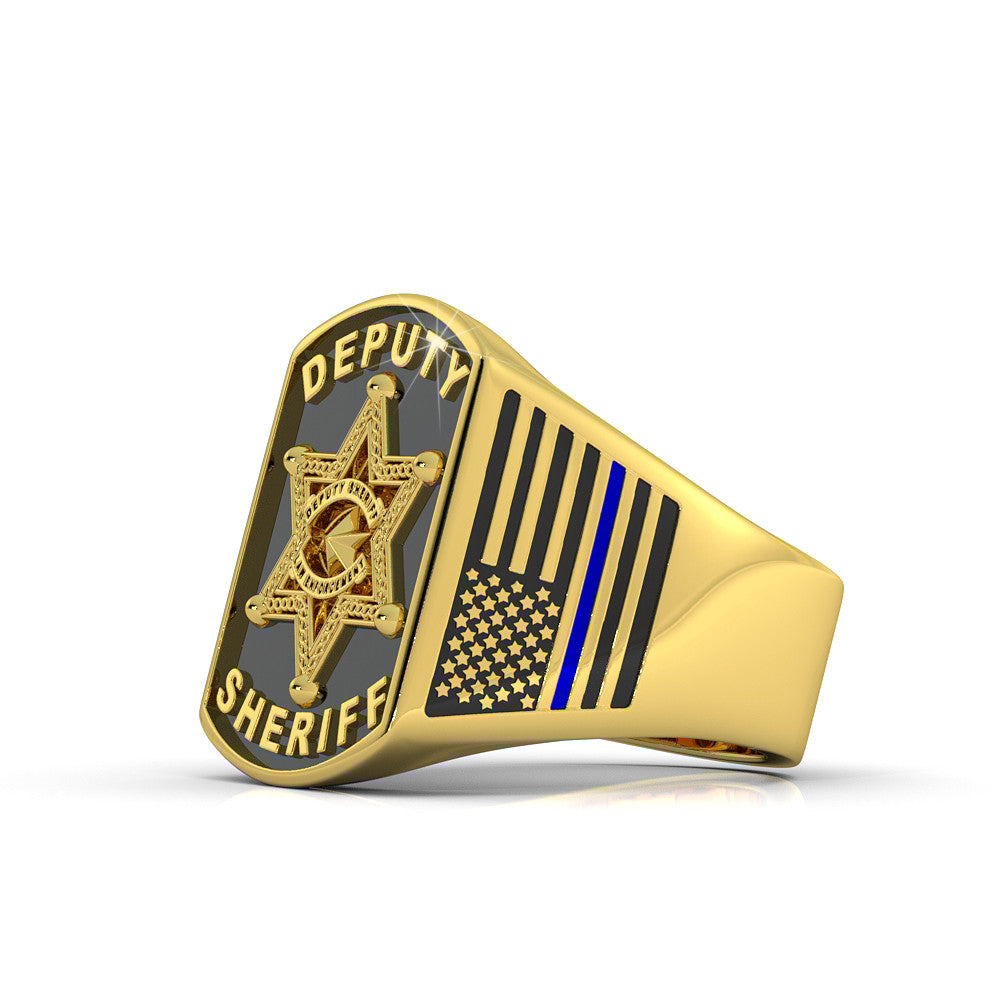 Hold the Line - Deputy Sheriff 6 point star Ring
