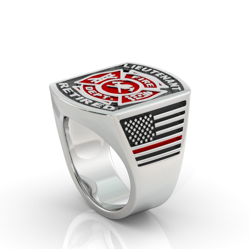 Retired Fire Lieutenant Ring - Limited Edition