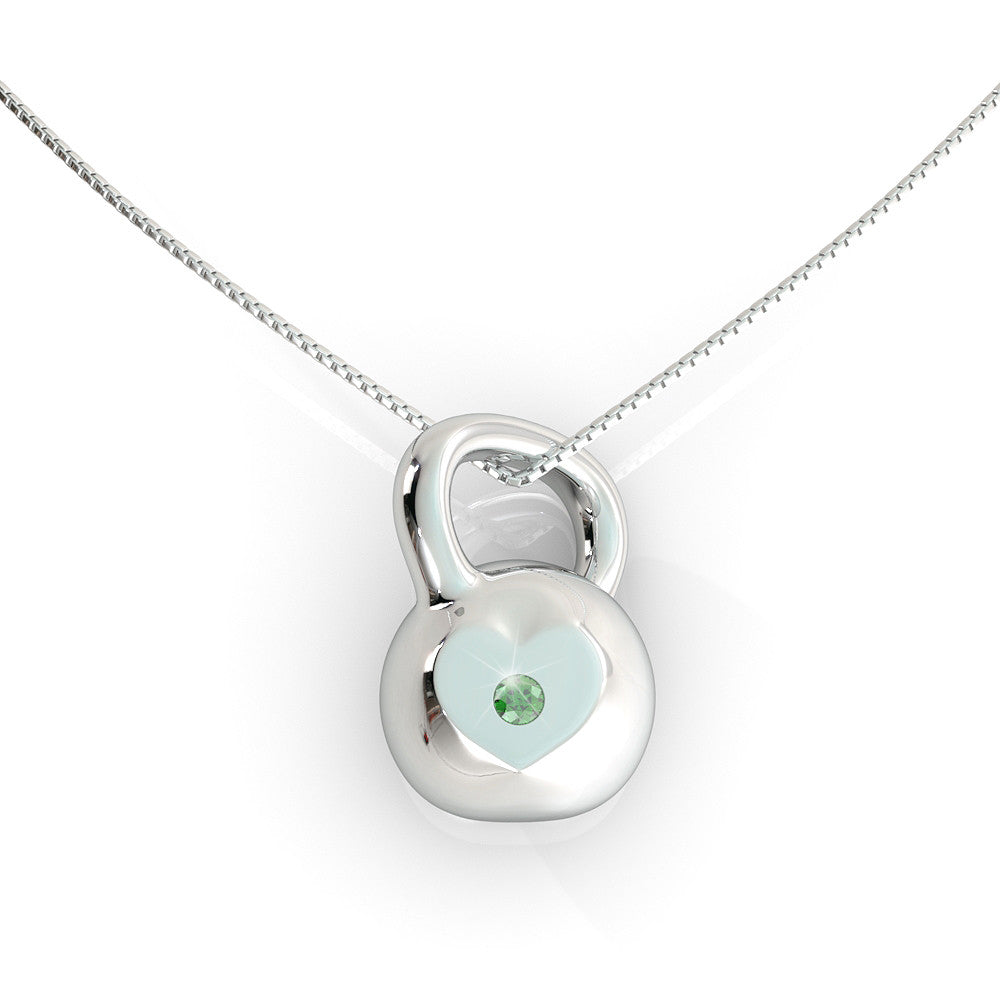 Kettlebell Birthstone Necklace