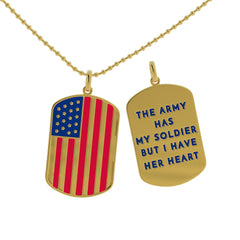 Army Has Her Heart Dog Tag