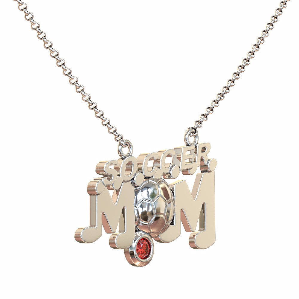 Soccer Mom - Birthstone Necklace
