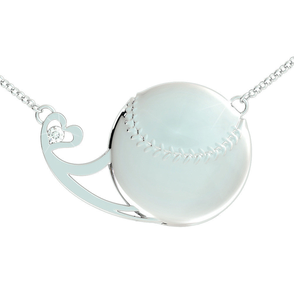 """Softball Diamond"" - Necklace"