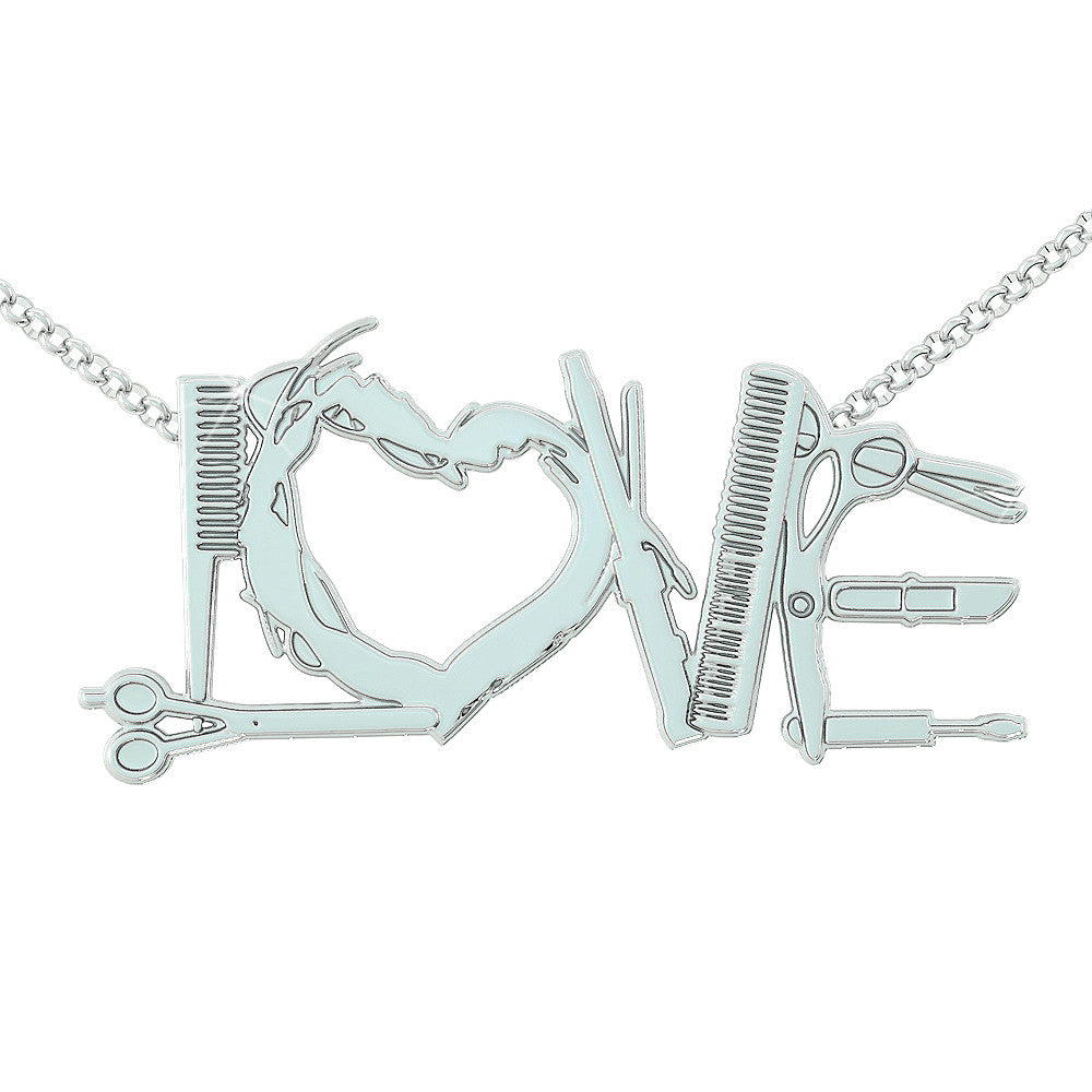 Hairstylist love Necklace