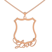 Police Shield Love Necklace
