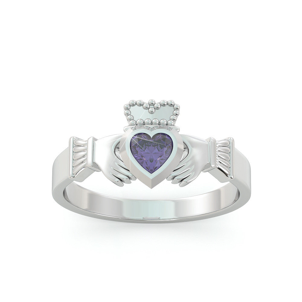 Claddagh Birthstone Ring
